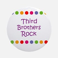 Third Brothers Rock Ornament (Round)