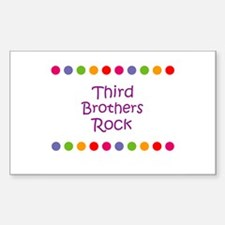 Third Brothers Rock Rectangle Decal