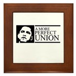 Obama: A more perfect Union Framed Tile