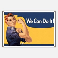 Rosie the Riveter We Can Do It Banner