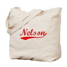 Vintage Nelson (Red) Tote Bag