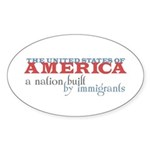 A Nation Built by Immigrants Oval Stickers (50 pk)