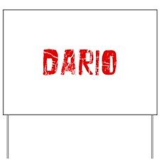 Dario Faded (Red) Yard Sign