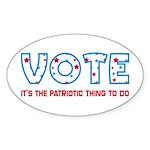 Patriotic Vote Oval Stickers (50 pk)