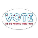 Patriotic Vote Oval Stickers (10 pk)