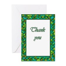 Lovely ornate thank you card blank inside