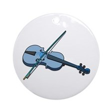 Blue Fiddle Ornament (Round)