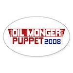 Oil Monger 2008 Oval Stickers (50 pk)