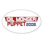 Oil Monger 2008 Oval Stickers (10 pk)
