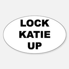 I don't want to free katie Oval Decal