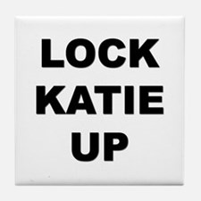 I don't want to free katie Tile Coaster