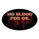 No Blood for Oil Oval Stickers (10 pk)
