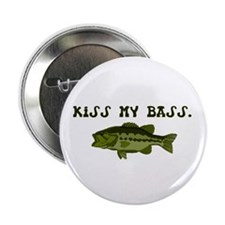 "Kiss my Bass 2.25"" Button"