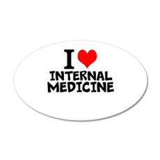 I Love Internal Medicine Wall Decal