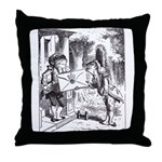 Fish-Footman Throw Pillow