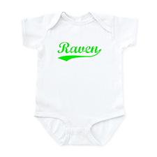 Vintage Raven (Green) Infant Bodysuit