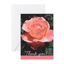 Thank You Notecards Watercolor Rose Pk of 10
