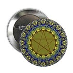 Wiccan Psychedelic Pagan Pentagram Button