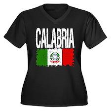 Classic Retro Calabria Women's Plus Size V-Neck Da