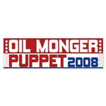 Oil Monger 2008 Bumper Stickers (50 pk)