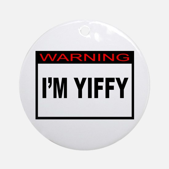 Warning: Yiffy Ornament (Round)