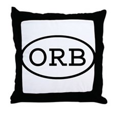 ORB Oval Throw Pillow