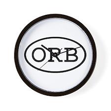 ORB Oval Wall Clock