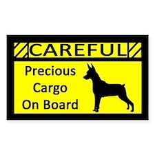 Precious Cargo Min Pin Sticker (Rect)