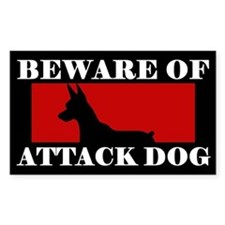 Beware of Attack Dog Miniature Pinscher Decal