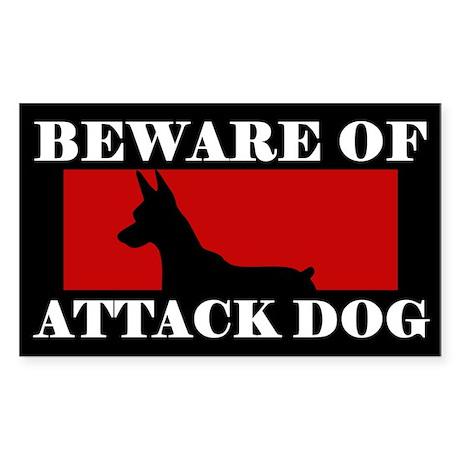 Beware of Attack Dog Miniature Pinscher Sticker