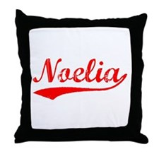 Vintage Noelia (Red) Throw Pillow