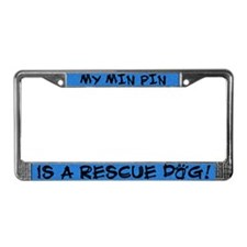 Rescue Dog Min Pin License Plate Holder