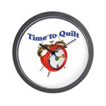 Time To Quilt - Quilter's Clo Wall Clock