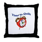 Time To Quilt - Quilter's Clo Throw Pillow