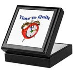 Time To Quilt - Quilter's Clo Keepsake Box