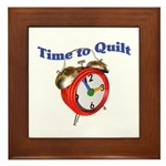 Time To Quilt - Quilter's Clo Framed Tile