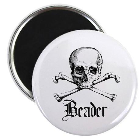"Beader - Skull and Crossbones 2.25"" Magnet (100 pa"