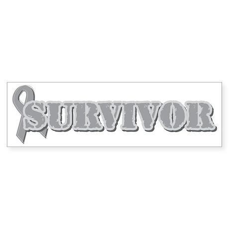 GraySilver Ribbon Survivor Sticker (Bumper)