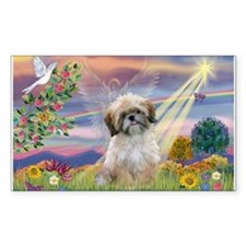 Cloud Angel & Shih Tzu Rectangle Decal