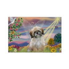 Cloud Angel & Shih Tzu Rectangle Magnet