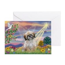 Cloud Angel & Shih Tzu Greeting Card