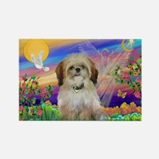 Guardian Angel & Shih Tzu Rectangle Magnet