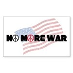 Anti War Stickers (Rect 50 pk)