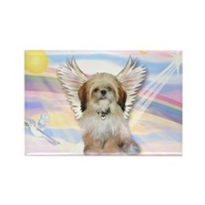 Angel Shih Tzu in Clouds Rectangle Magnet