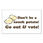 Go Out and Vote Stickers (Rect 50 pk)