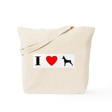 I Heart Miniature Pinscher Tote Bag