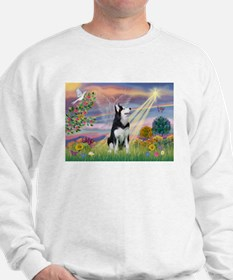 Cloud Angel & Siberian Husky Sweatshirt