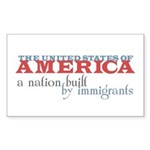A Nation Built by Immigrants Stickers (Rect 10 pk)