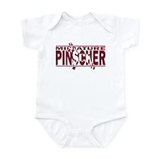 Hidden Miniature Pinscher Baby Bodysuit