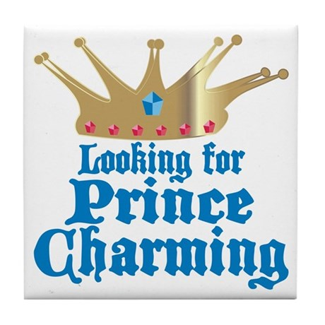 Looking For Prince Charming Tile Coaster